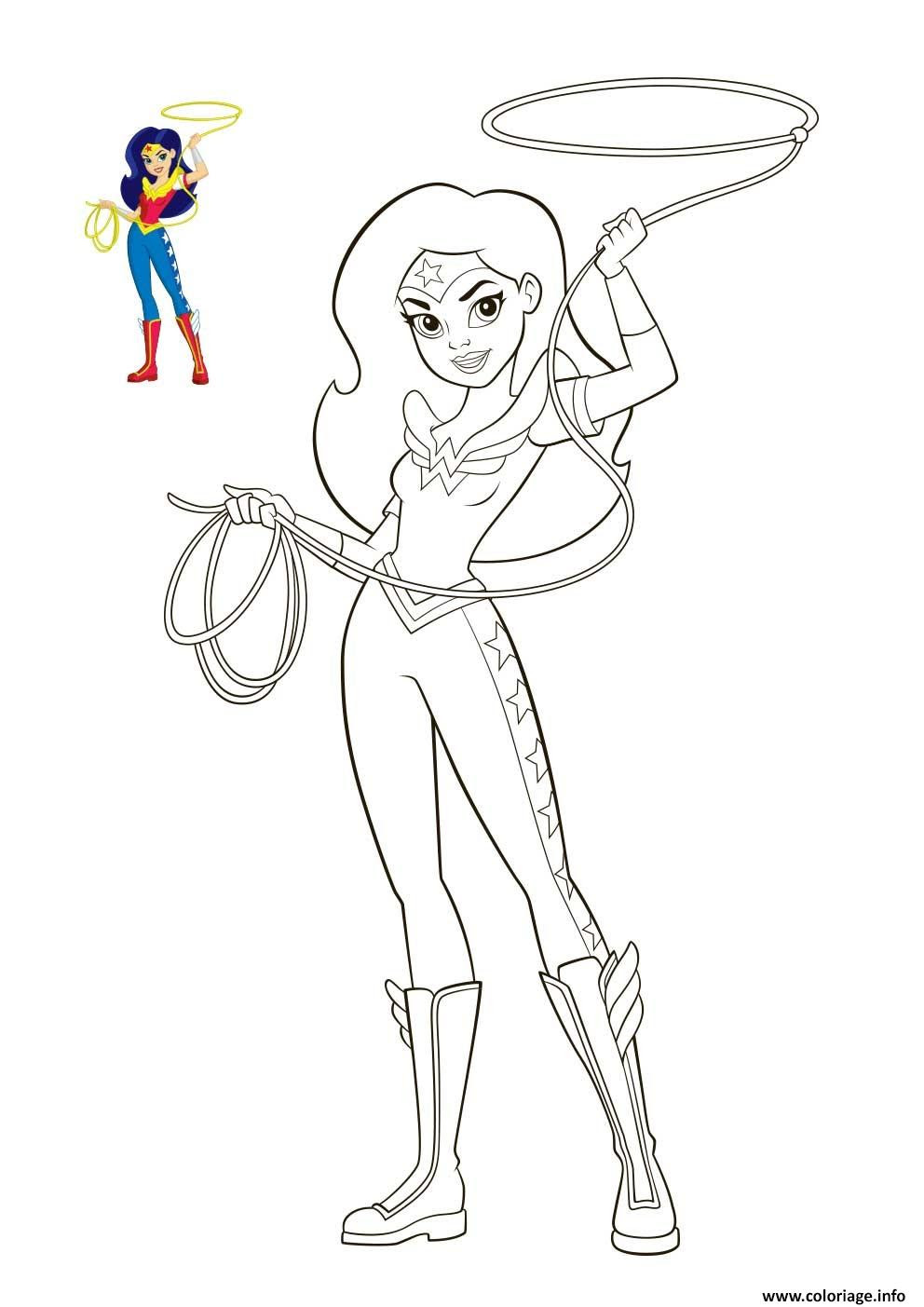 Coloriage Wonder Woman Dc Super Hero Girls Jecoloriecom