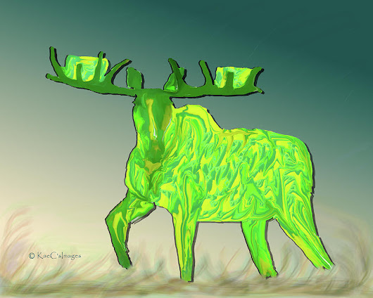 Digital Moose #2 by Kae Cheatham