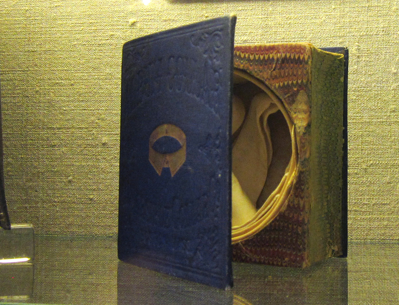 """Reversible Collar Company, """"Album Collar"""", a collar box for a new and improved cotton and paper collar (1870s)"""