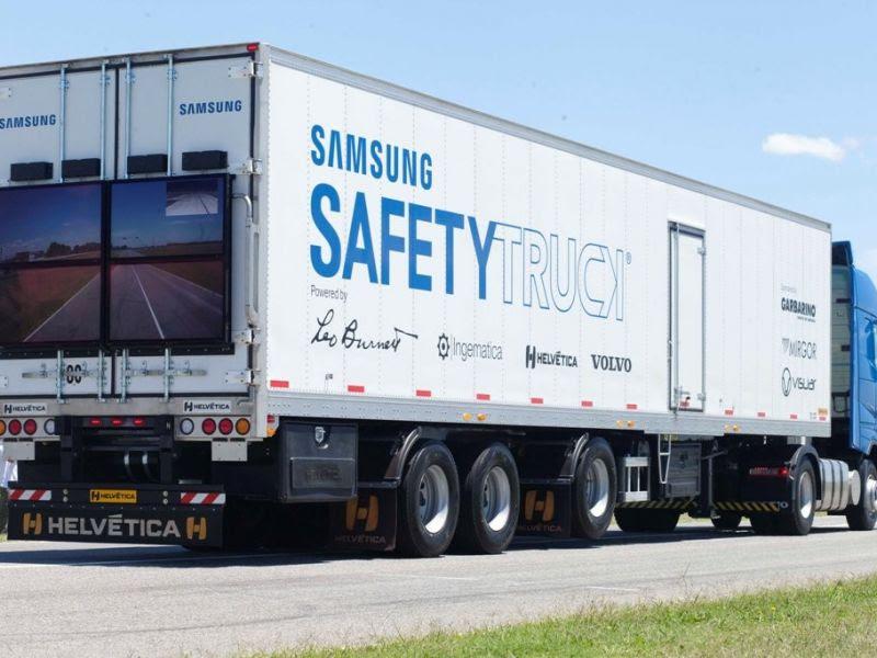 Samsung y Volvo Trucks trabajan en un camión más seguro - Cars