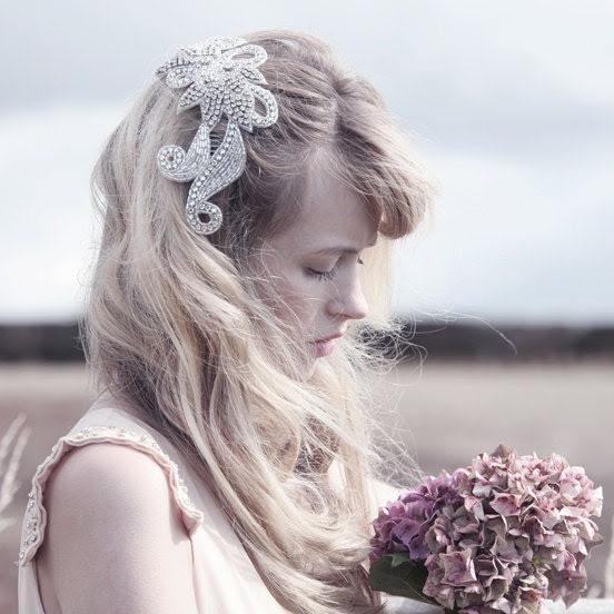 Liberty - vintage bridal comb, vintage bridal accessory, vintage hair comb, silver bridal comb, rhinestone bridal