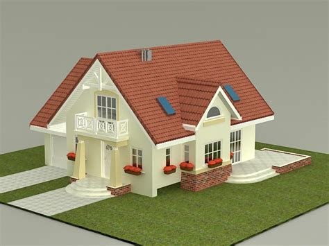 small house plan  model ds max files
