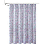 100% Polyester Metallic Printed Shower Curtain,MZ70-0599