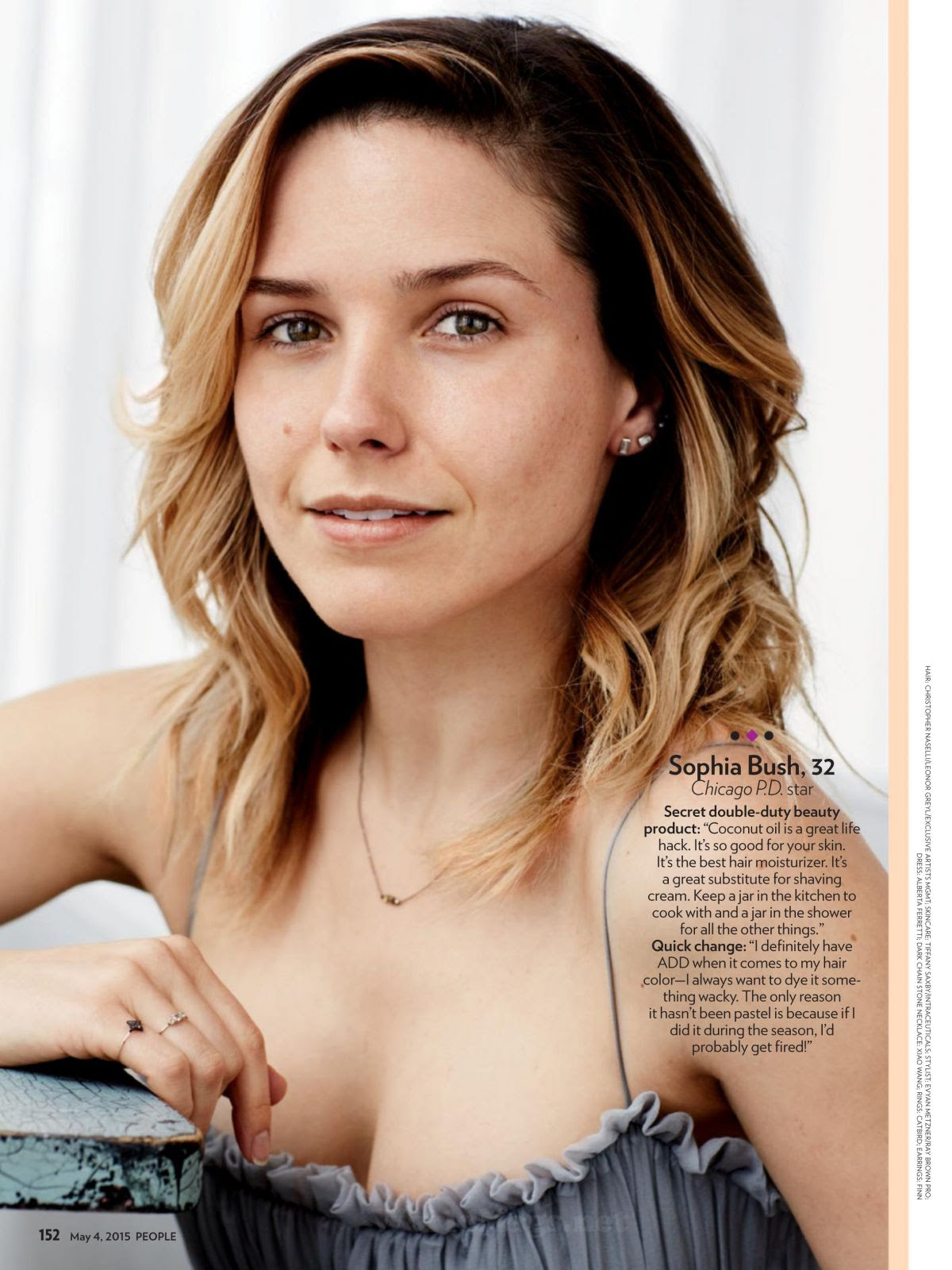 SOPHIA BUSH in People Magazine 2015, Most Beautiful Issue