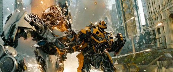 Bumblebee defeats Soundwave in TRANSFORMERS: DARK OF THE MOON.