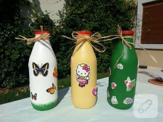 Süt şişes Boyama Süsleme 10marifetorg