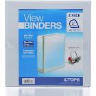 "Tops 2"" Locking D-Ring View Binder - 4 pack"
