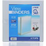 """View Binders 2"""" Locking 3 Ring Binders 4 Pack"""