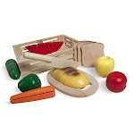 Melissa & Doug Cutting Food Wooden Play Food - The Original