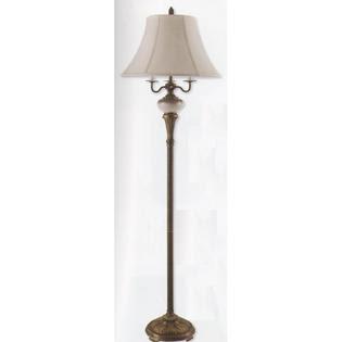 Design Fidelity 70 inch Restoration Bronze Torchiere Floor Lamp ...