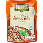 Seeds of Change, Quinoa & Brown Rice with Garlic - 8.5 oz packet