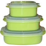 Calypso Basics, Microwave Cookware/ Storage Set, Lime, Green