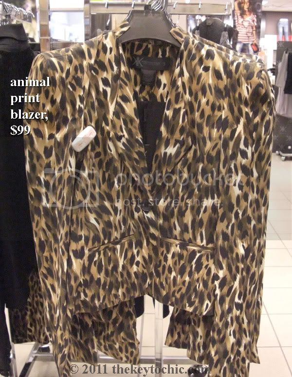 Kardashian Kollection Sears animal print blazer