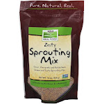 NOW Foods Zesty Sprouting Mix Clover Fenugreek and Radish 1 lb.