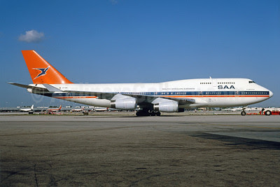 South African Airways-SAA Boeing 747-444 ZS-SAW (msn 25152) MIA (Bruce Drum). Image: 913319.
