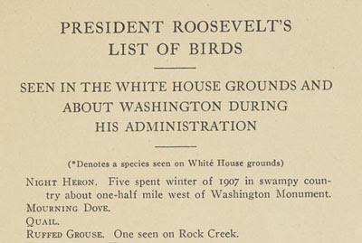 President Theodore Roosevelt's Bird Checklist for the White House | BirdNote
