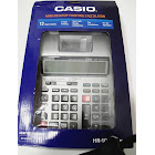 Casio HR-100TMPlus Desktop Printing Calculator, Silver