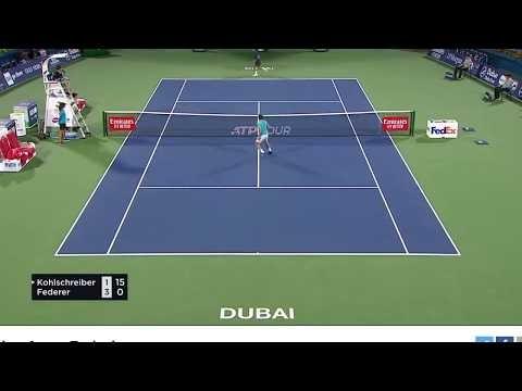 Video- Federer vượt qua Kohlschreiber vòng 1 giải Dubai mở rộng