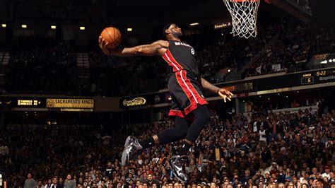 lebron james dunk nba sports art basketball papersco