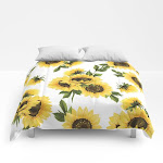 "Lovely Sunflower Comforters by rate pattern - Full: 79"" x 79"""