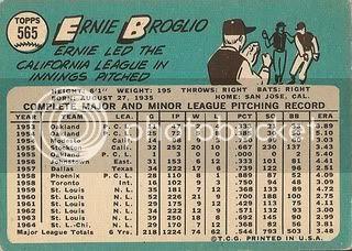 #565 Ernie Broglio (back)