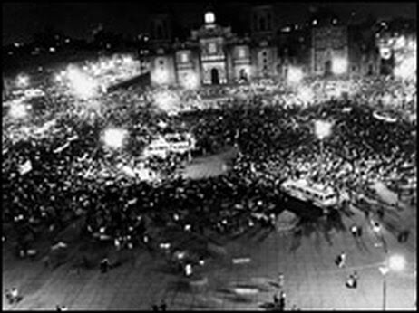 On Aug. 27, 1968, students in Mexico City staged a protest in the Zocalo plaza.