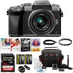 Panasonic LUMIX G7 Mirrorless Camera with 14-42mm Lens Bundle (Silver)