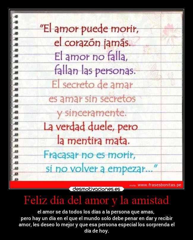 Feliz Dia Del Amor Y La Amistad Desmotivaciones