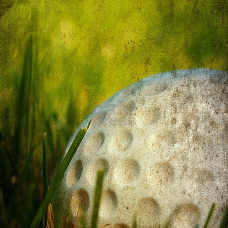 Vintage Golf Ball Shower Curtain by pixel_gear