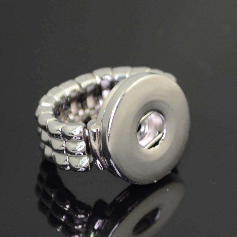 75190020-00 Klik Snap Findings -  Ring Base - Silvertone (1)