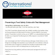 Last Call Free Webinar: Preventing a Food Safety Crisis with Pest Management
