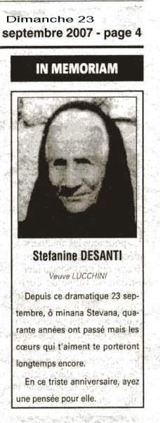 In Mémoriam Lucchini Desanti Stefanina