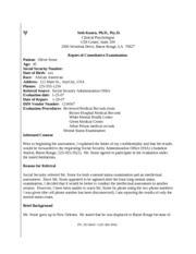 mental status examination example : PSYC 3083 : LSU : Exam ...
