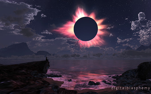 Digital Blasphemy 3D Wallpaper:  Moonshadow (2014) by Ryan Bliss