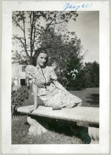 Joyce on a Bench 1938