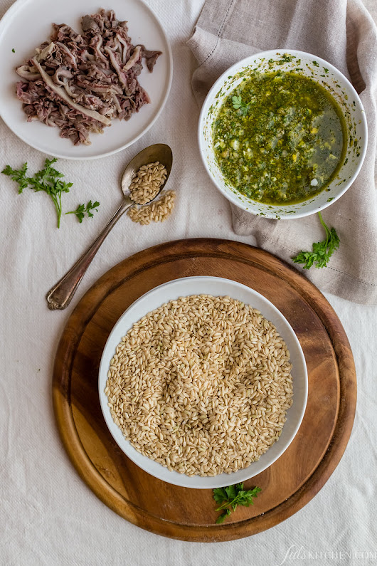 Risotto al lampredotto with salsa verde, it doesn't get any better than this - Juls' Kitchen