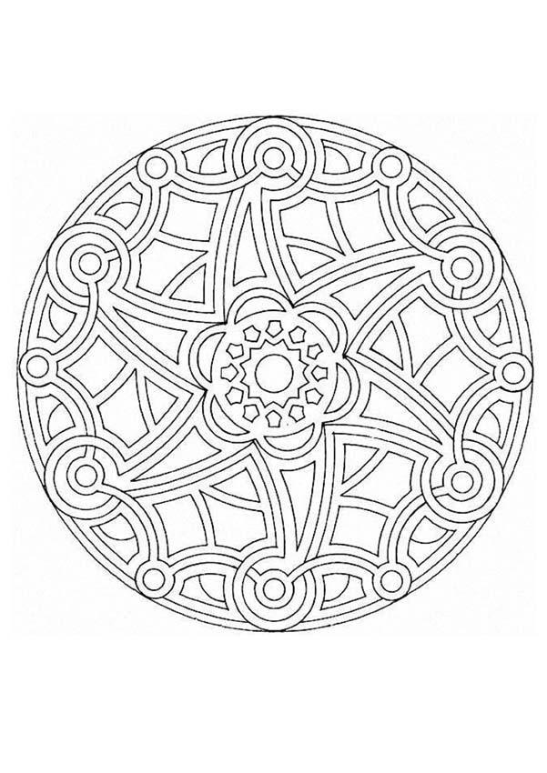 Dibujos Para Colorear Rosetón Tipo Maya Eshellokidscom