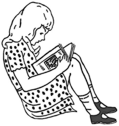 Girl Reading - Coloring Page for Kids - Free Printable Picture