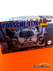 Fujimi: Maqueta de coche escala 1/24 - Porsche 917K Martini Nº 22 - Helmut Marko (AT) + Gijs van Lennep (NL) - 24 Horas de Le Mans 1971 - maqueta de plástico