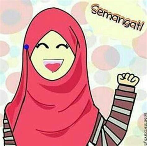 kartun muslimah hijab syari tutorial hijab terbaru