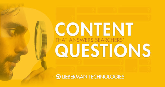 Website Content that Answers Questions