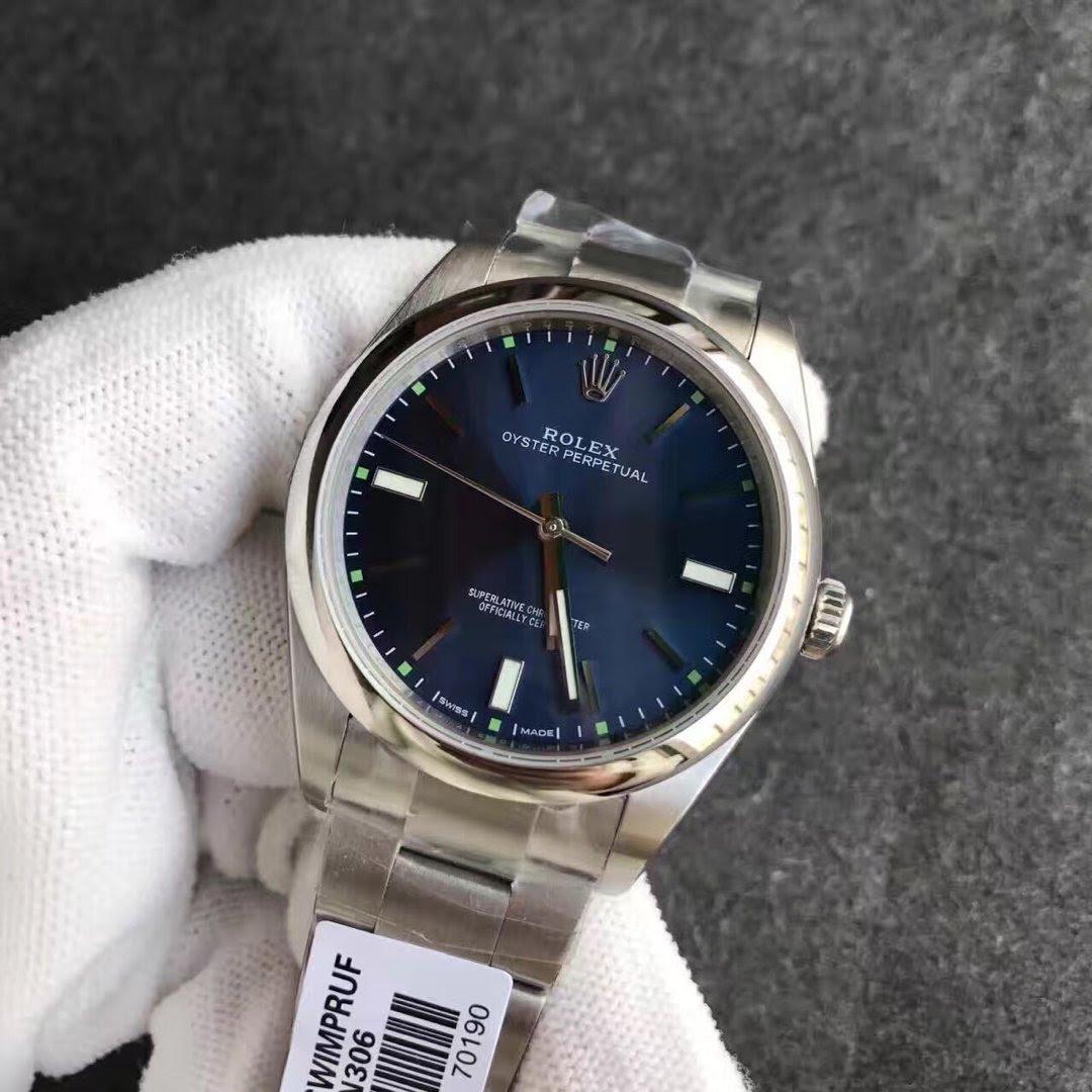 Replica Rolex Oyster Perpetual 114300 Blue Watch