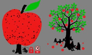 Post-capitalism apple trees. Illustration by Joe Magee