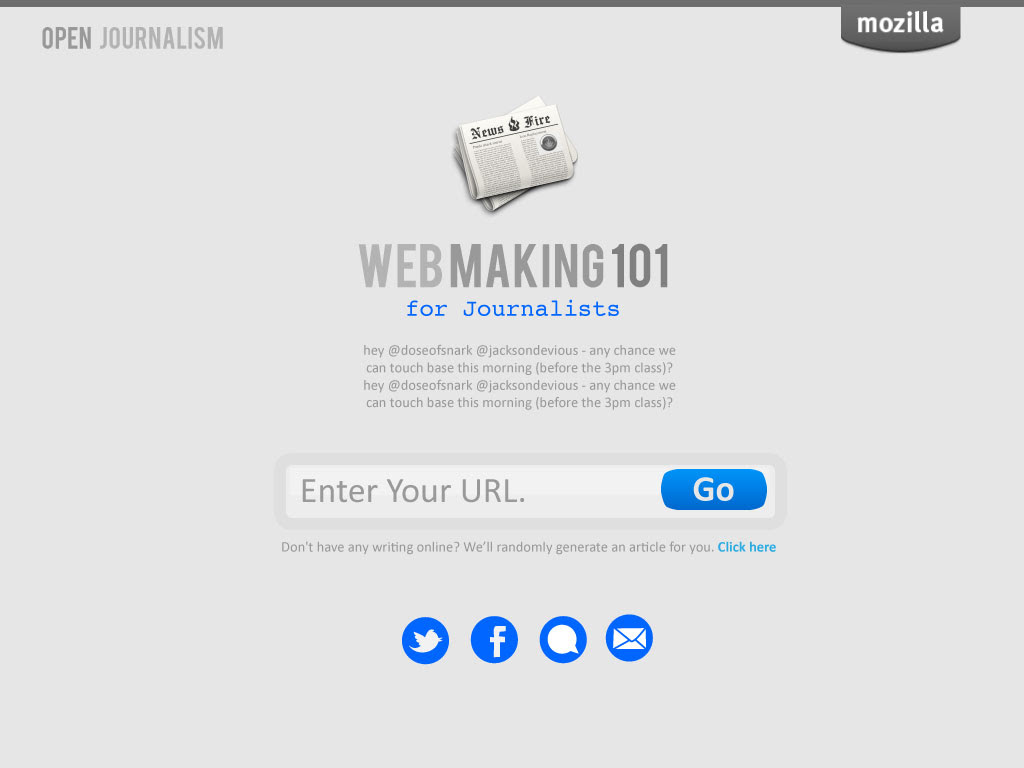 Webmaking 101 for journalists