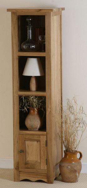 Cairo Solid Oak Slim Jim Bookcase