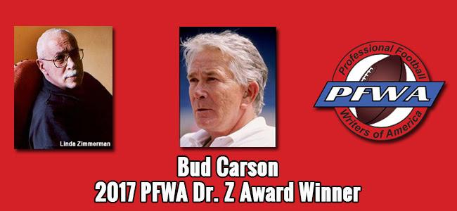 Carson 2017 Dr. Z Award winner  PFWA