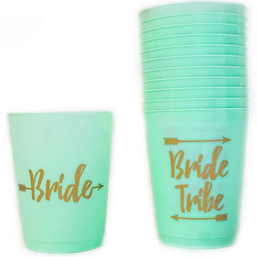 oikostoys bride and bride tribe bachelorette party cups bridal shower cups for bacheloret