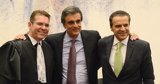 Ministro Henrique Alves prestigia posse de Marcelo Navarro no STJ