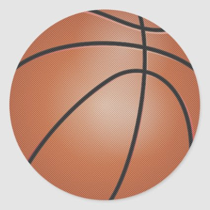 Basketball Sports Classic Round Sticker