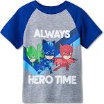 Toddler Boys' PJ Masks Raglan Short Sleeve T-Shirt - Grey 4T, Gray